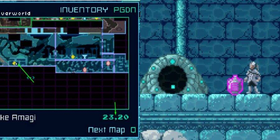 Location of Gud An-Na in Axiom Verge