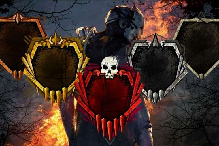 The Dead by Daylight background with grade icons.