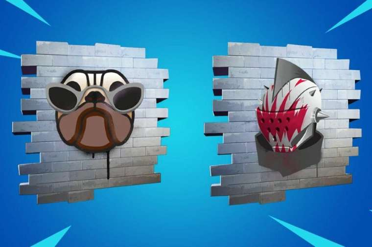 The Fashion Doggo and Knight Looks sprays in Fortnite