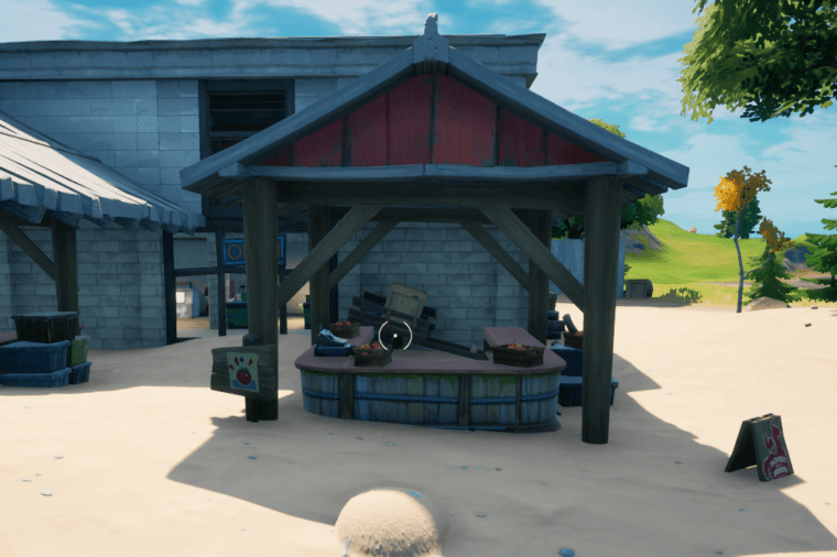 A picture showing the Farmer's Market in Fortnite