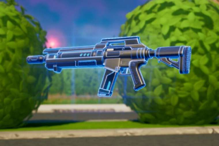 A dropped Pulse Rifle in Fortnite.
