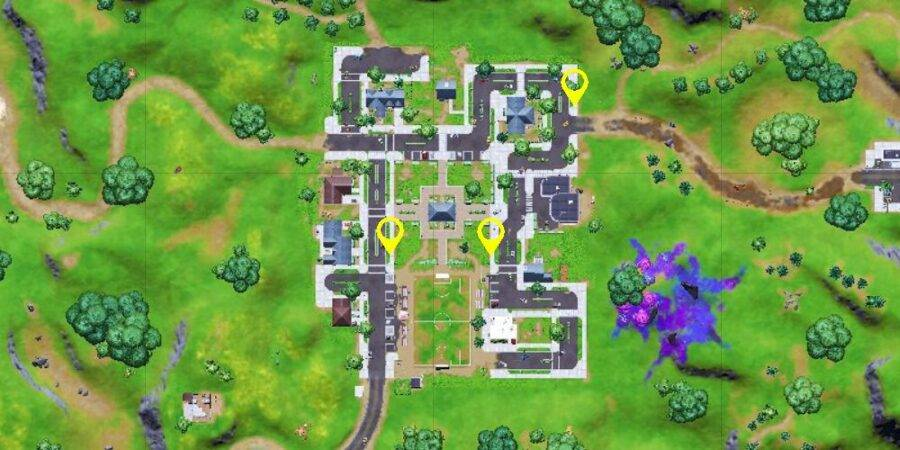 Warning sign locations in Pleasant Park c2s7w14