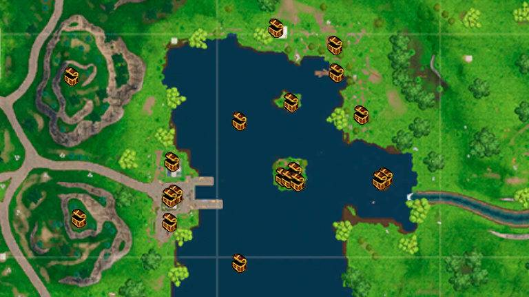 Loot Lake Chest Map