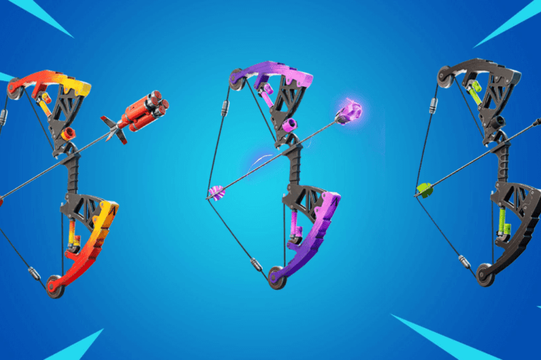 All three Mechanical Bows in Fortnite;.