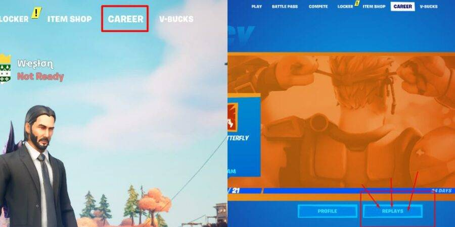 How to get to the replay folder in Fortnite.