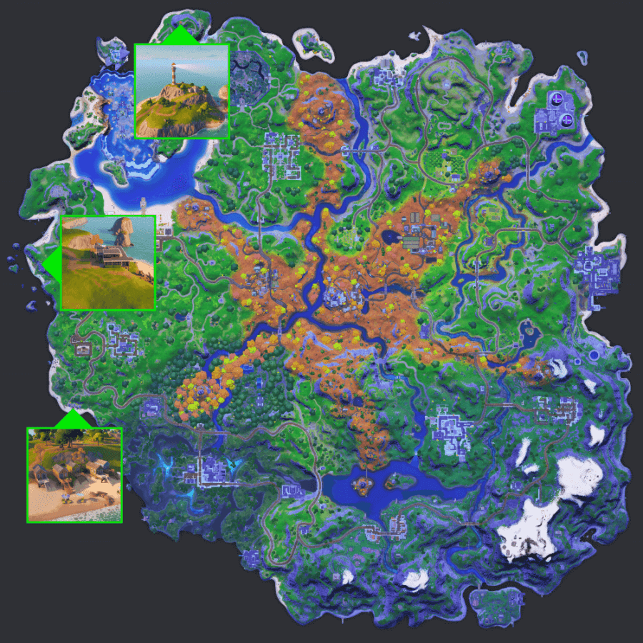 Where to find the three locations for Fortnite Chapter 2 Season 6 Week 6.