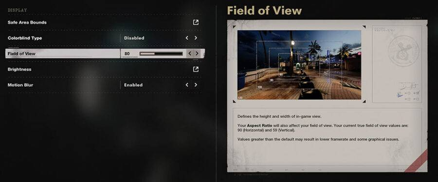 fov settings in call of duty black ops cold war