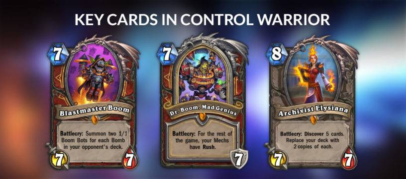 An image of the key cards in Control Warrior.