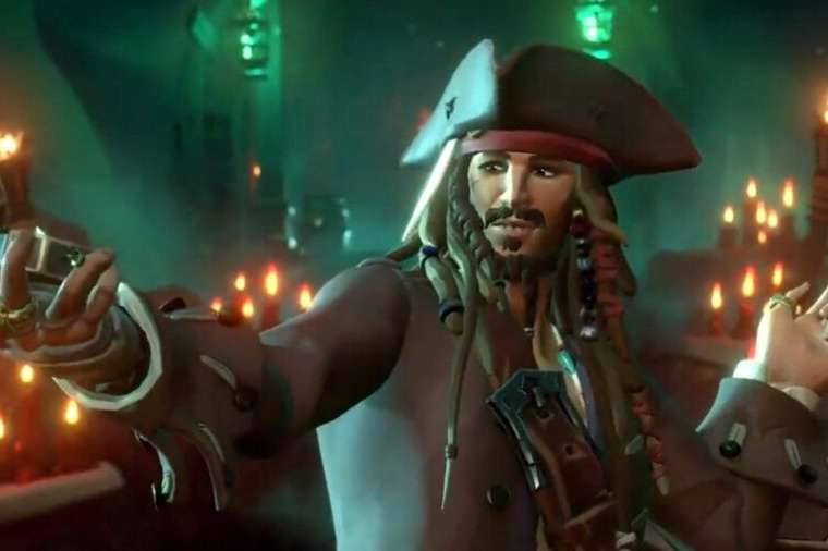 Jack Sparrow in Sea of Thieves.