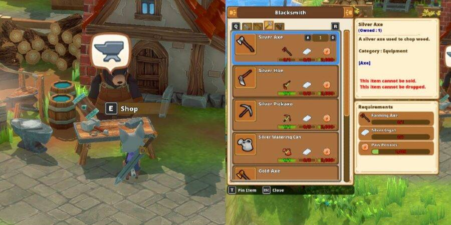 Upgrading tools in Kitaria FAbles