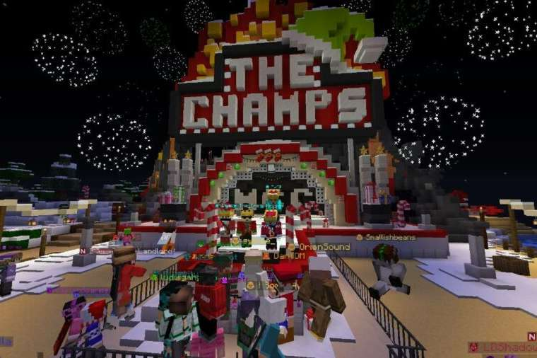 The champion area in Minecraft Championships