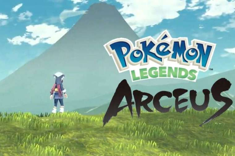 The title page for Pokemon Legends: Arceus