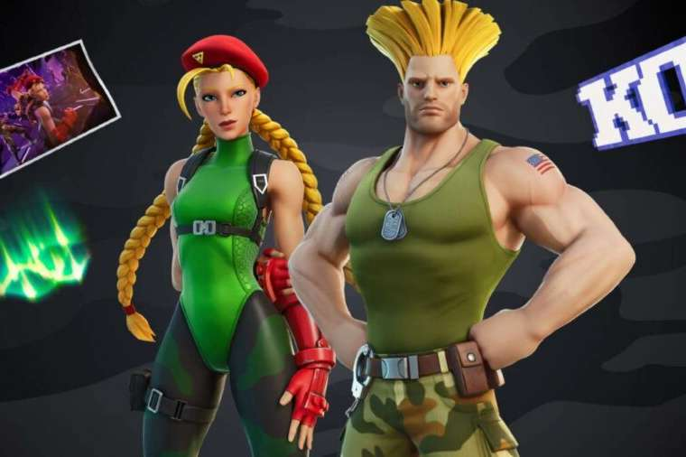 Cammy and Guile in Fortnite.