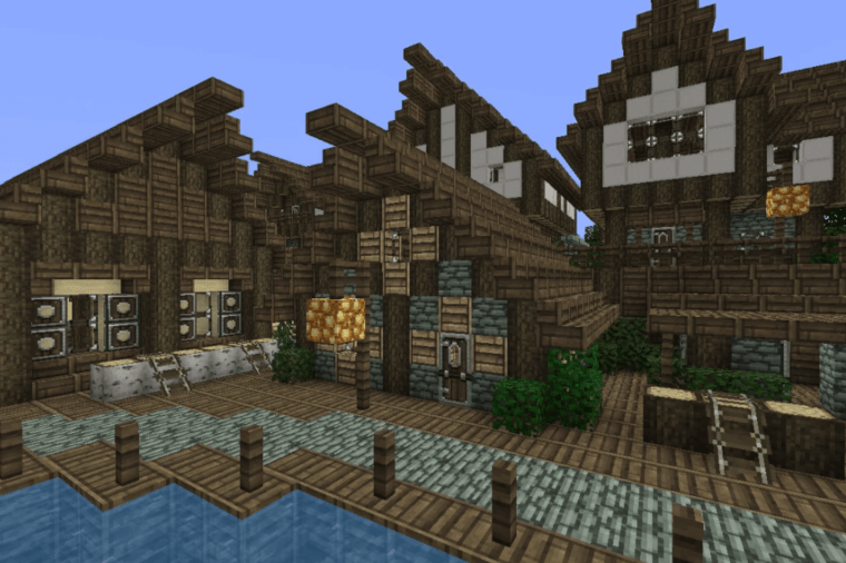 A texture pack for Minecraft on display.