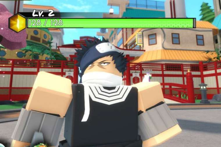 A character in Roblox Anime WArriors.