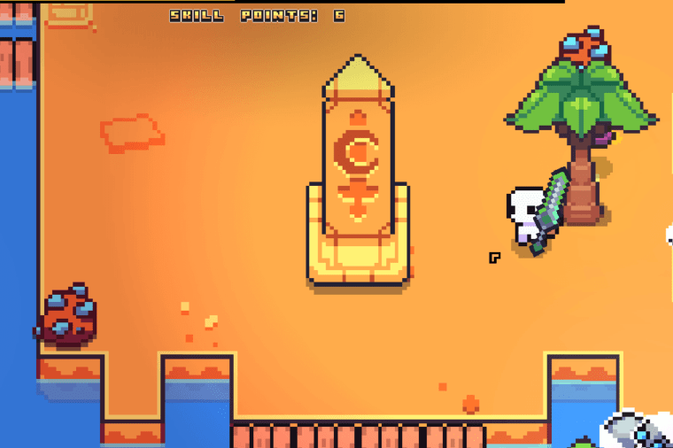 The Moon Sword Obelisk Puzzle in Forager.