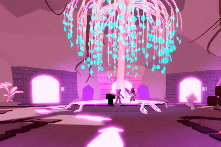 The metaverse event lobby in Club Roblox.