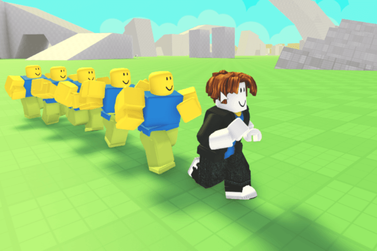 Many noobs in Roblox.