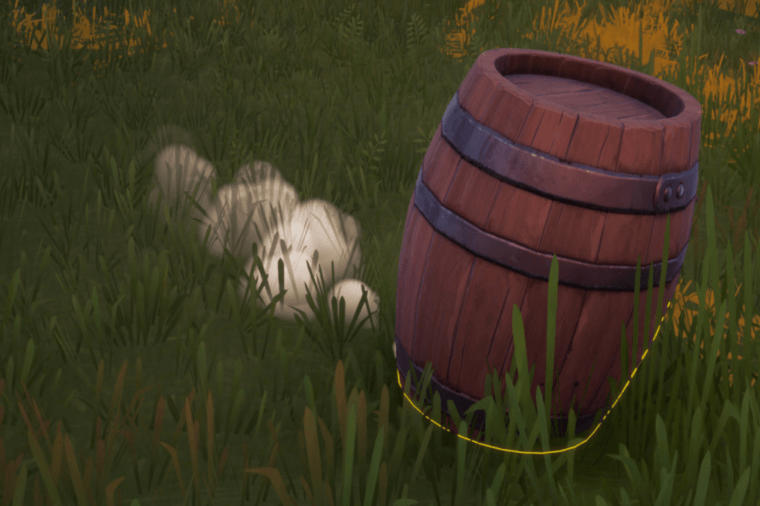 A character disguised as a Prop in Fortnite.