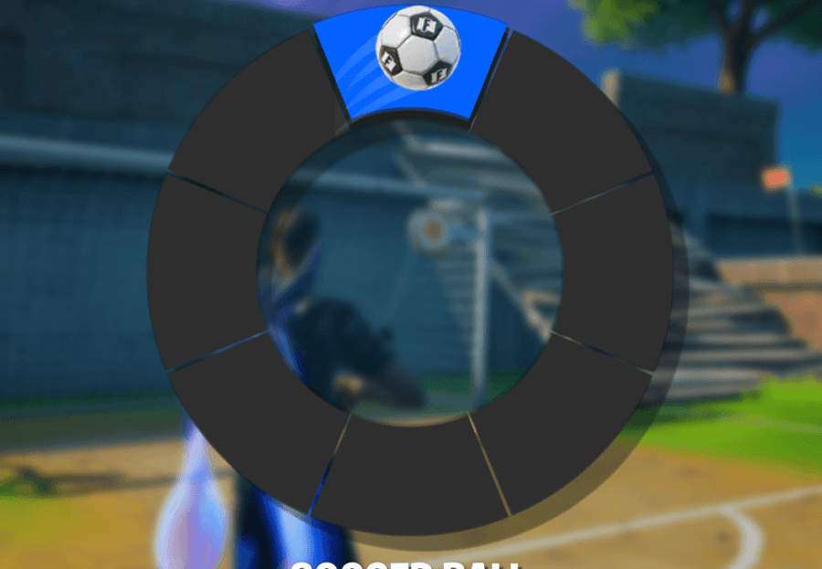 Selecting the Soccer Ball Toy Emote in Fortnite