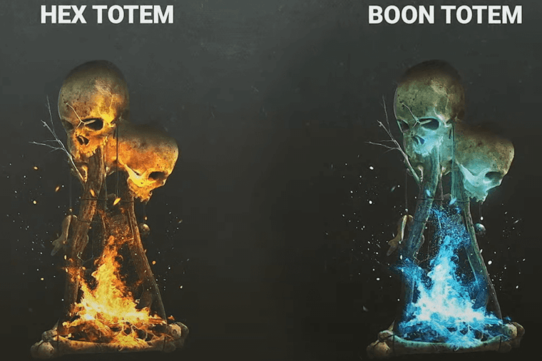Hex and Boon totems in Dead by Daylight.