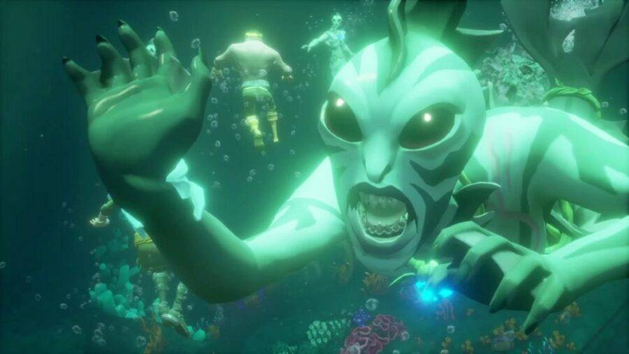 A Siren in Sea of Thieves.