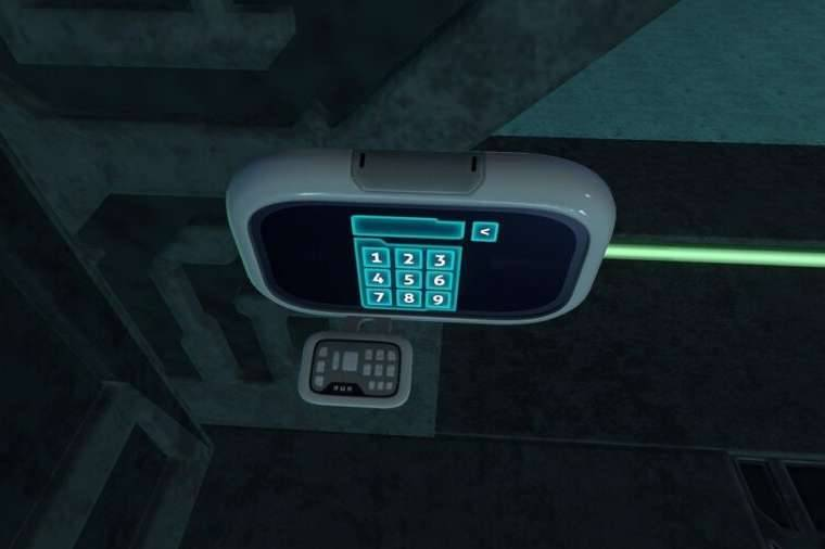 A keypad in the Subnautica.
