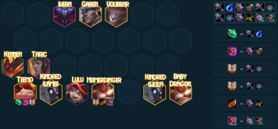 A Golden Team comp in TFT 5.0